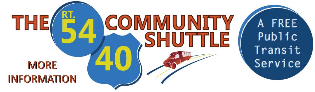 The Rt. 54/40 Community Shuttle - A FREE Public Transit Service [Link to Rt. 54/40 Community Shuttle page.]